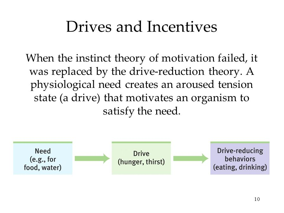 Drives and Incentives