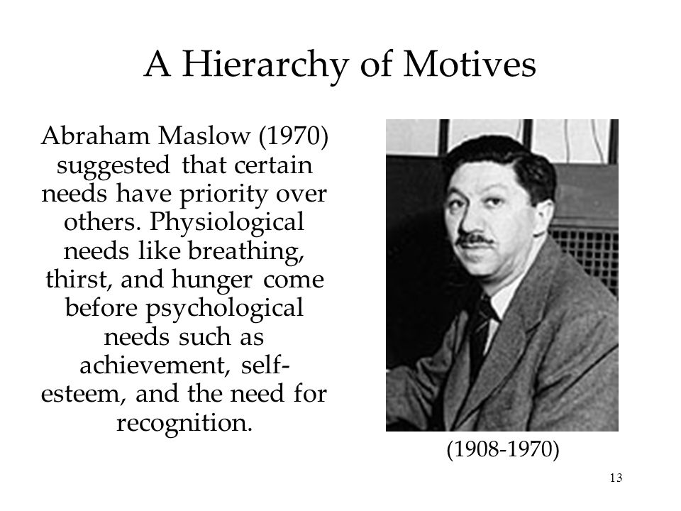 A Hierarchy of Motives