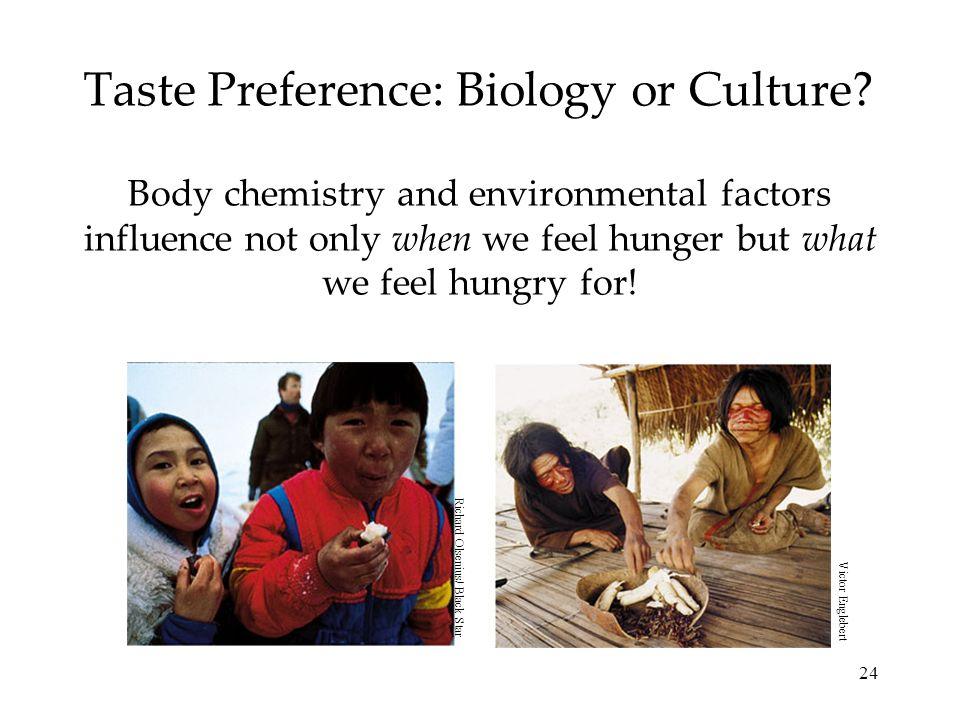 Taste Preference: Biology or Culture