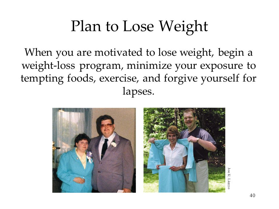 Plan to Lose Weight