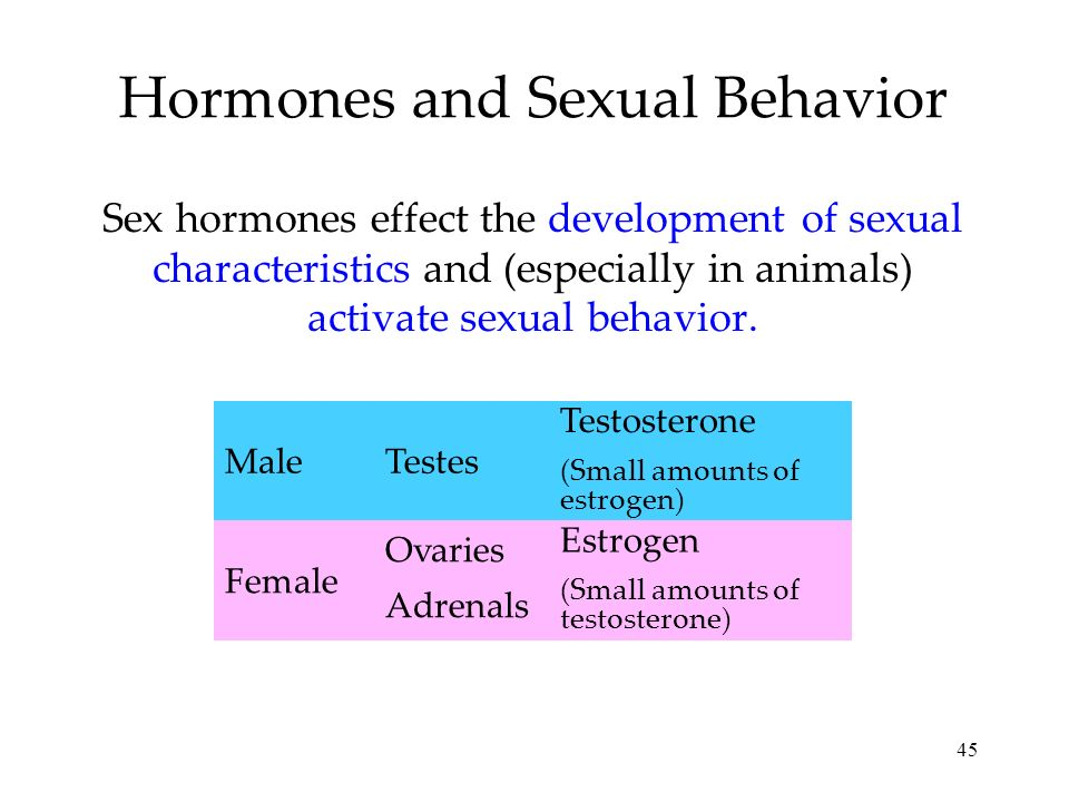 Hormones and Sexual Behavior