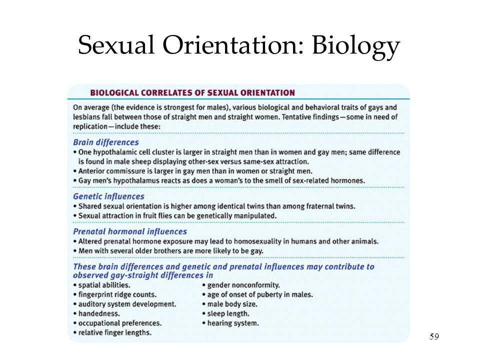 Sexual Orientation: Biology