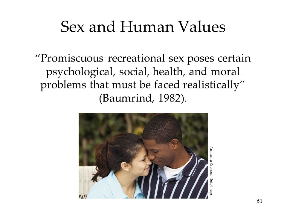 Sex and Human Values