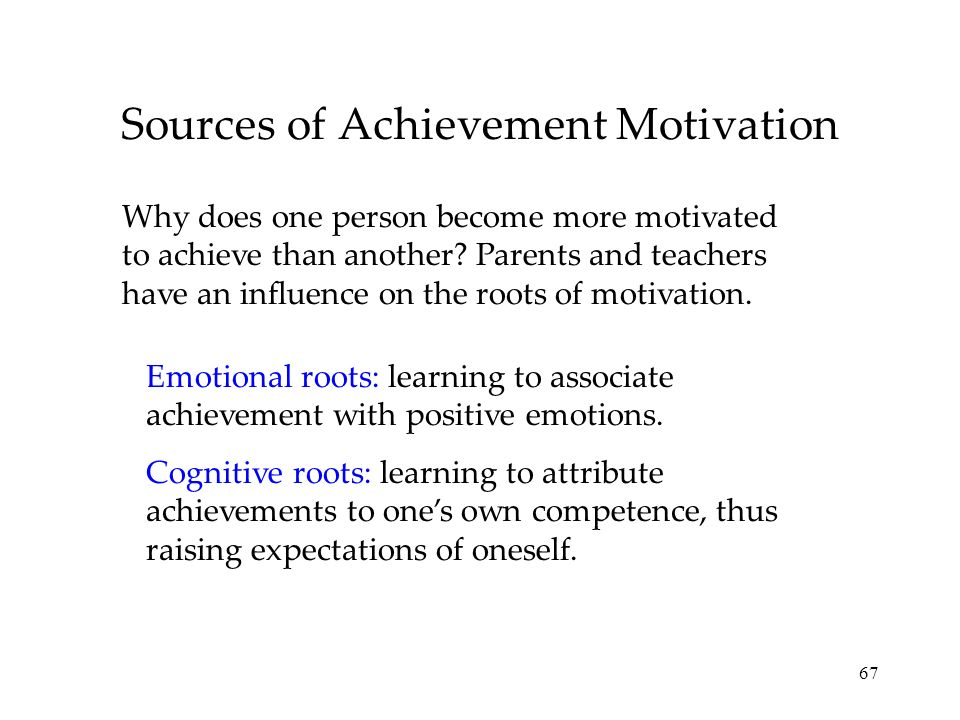Sources of Achievement Motivation