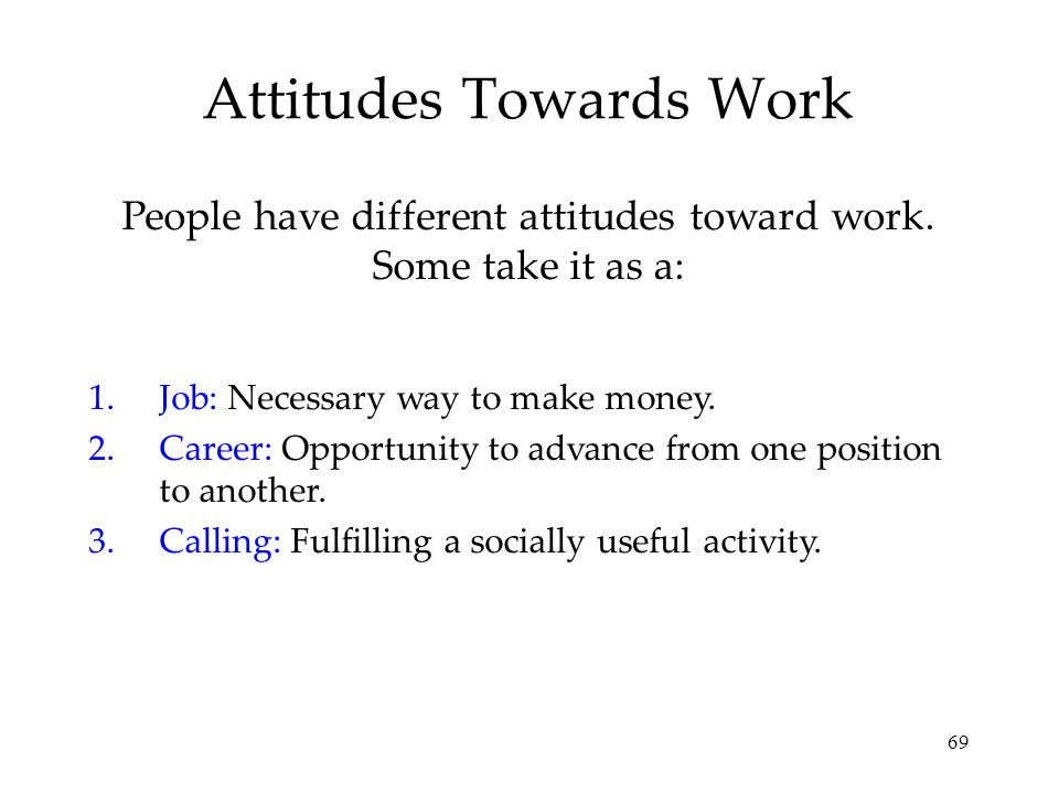 Attitudes Towards Work