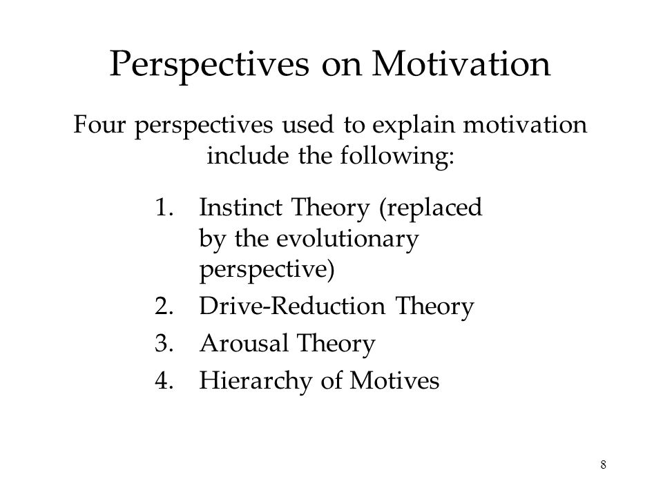 Perspectives on Motivation