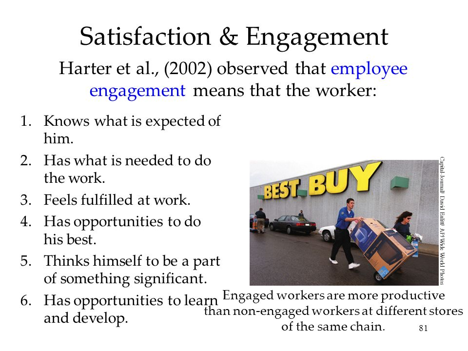 Satisfaction & Engagement