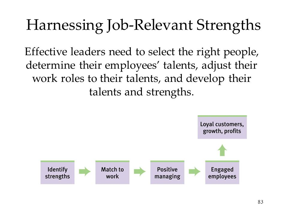 Harnessing Job-Relevant Strengths