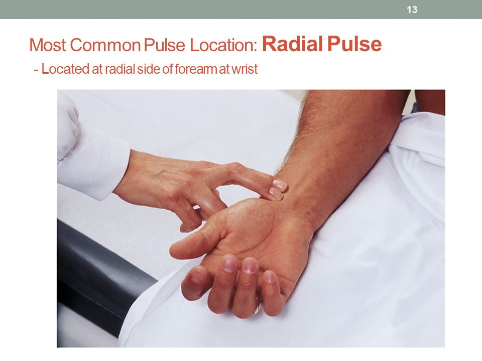 how to find radial pulse