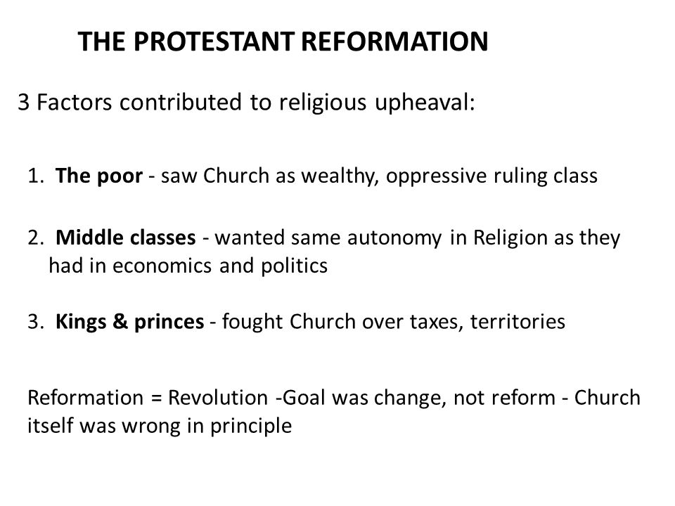 """protestant reformation primarily economic event """"the protestant reformation was primarily an economic event"""" analyze the impacts of the protestant reformation and the catholic frqs by year assigned."""