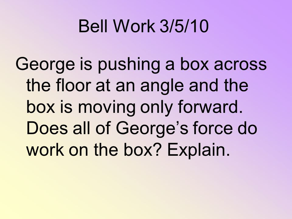 Bell Work 3/5/10