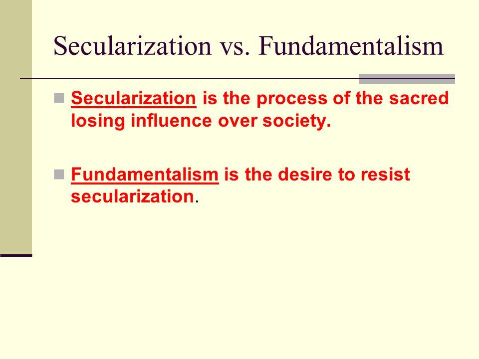 Secularization vs. Fundamentalism