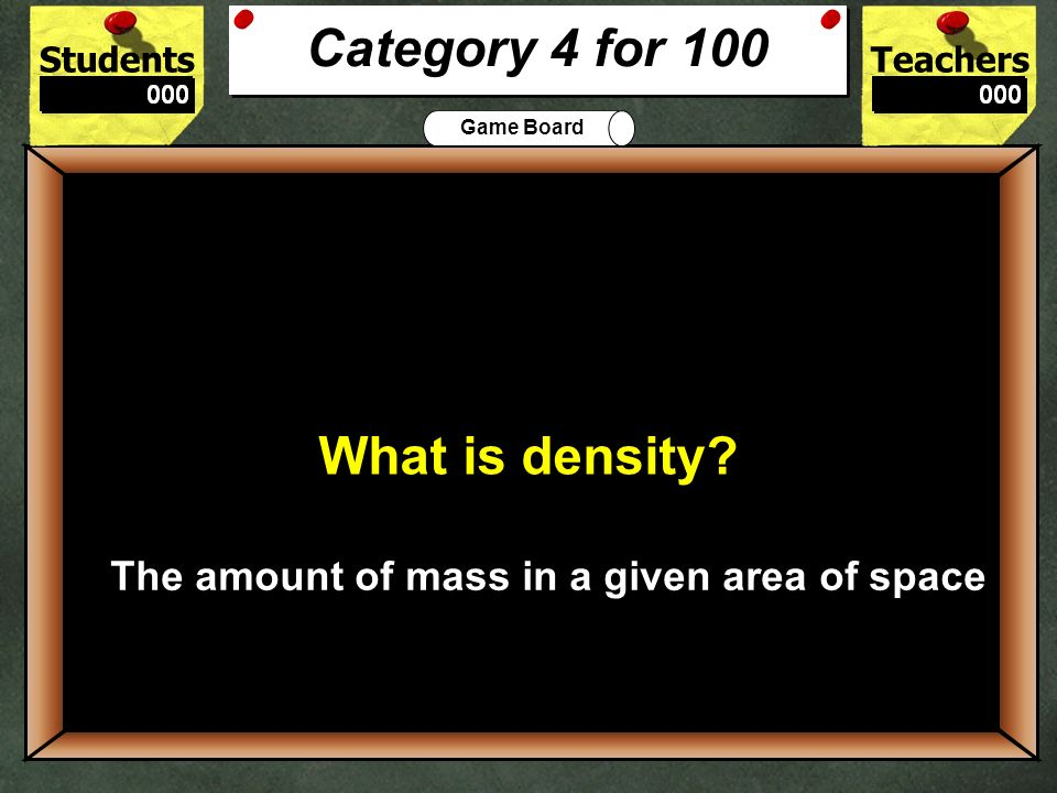 The amount of mass in a given area of space