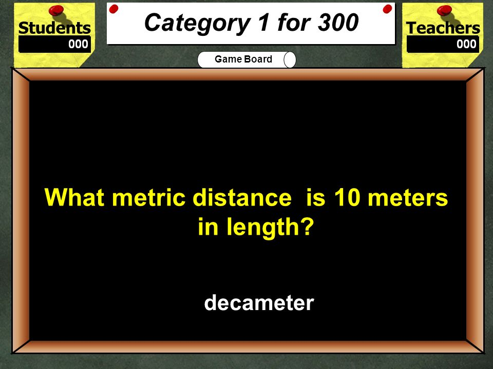What metric distance is 10 meters in length