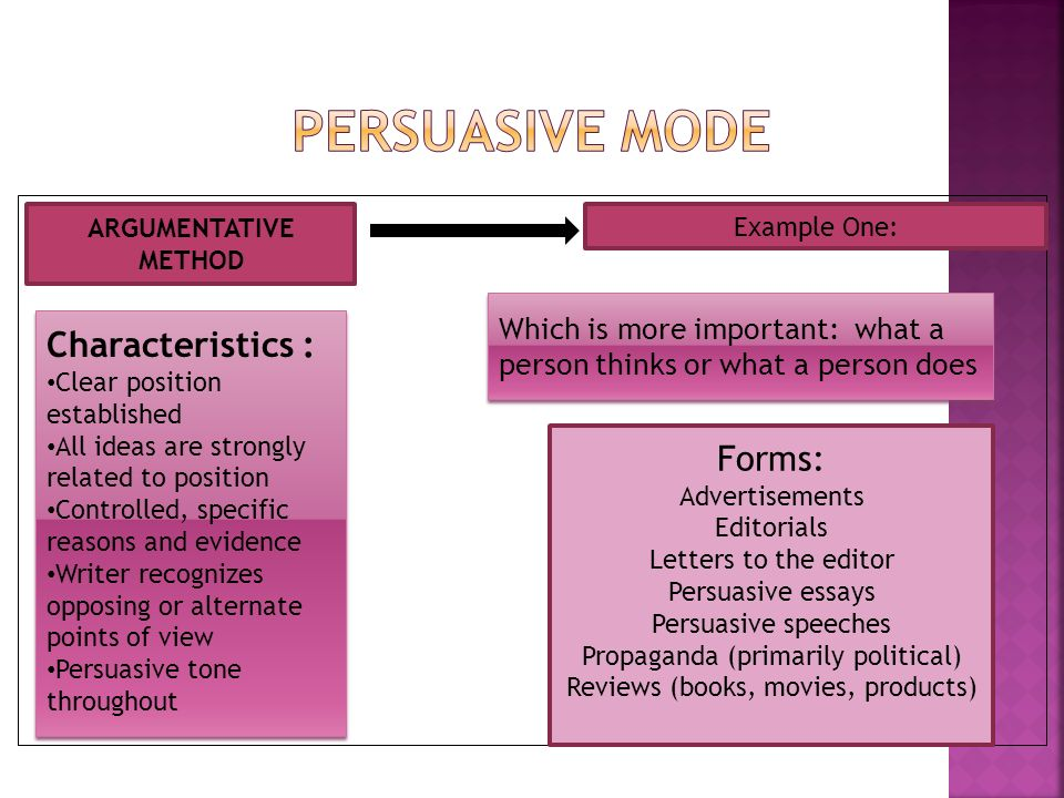 persuasive essays characteristics Persuasion is one of the most important skills you need to have and it can be learned check out these five traits of persuasive people.