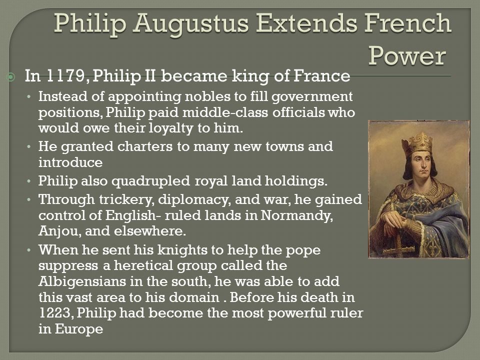Philip Augustus Extends French Power