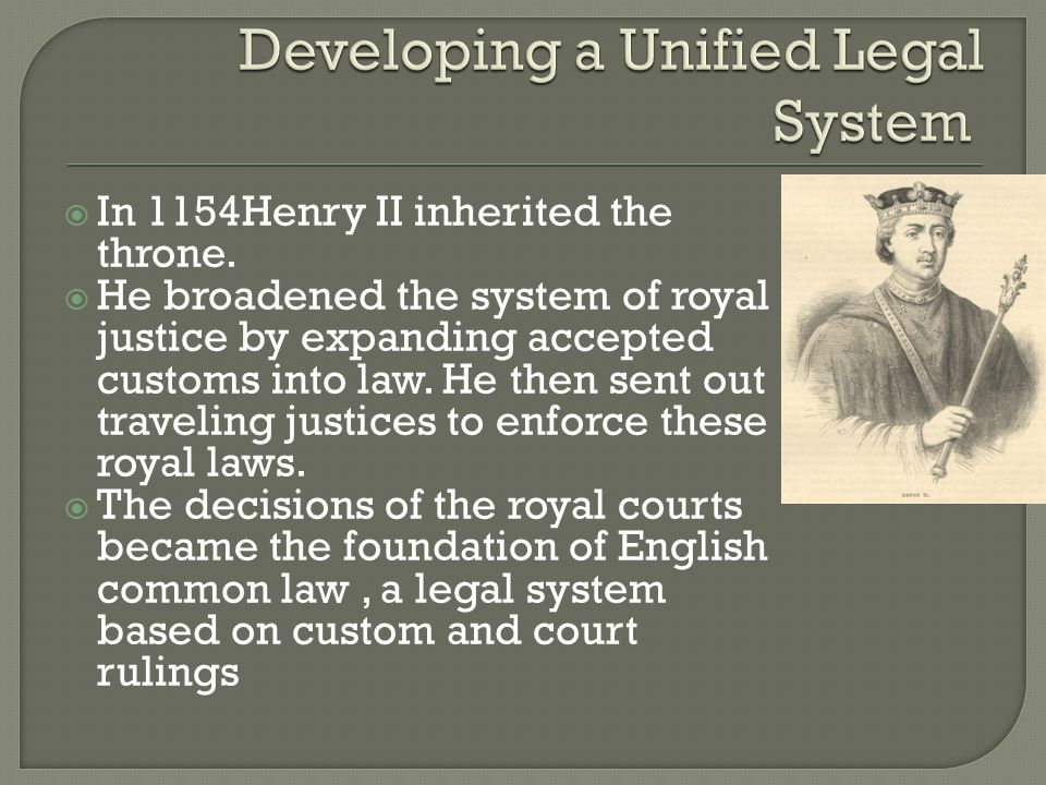 Developing a Unified Legal System