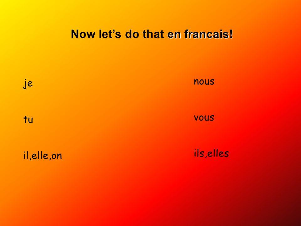 Now let's do that en francais!