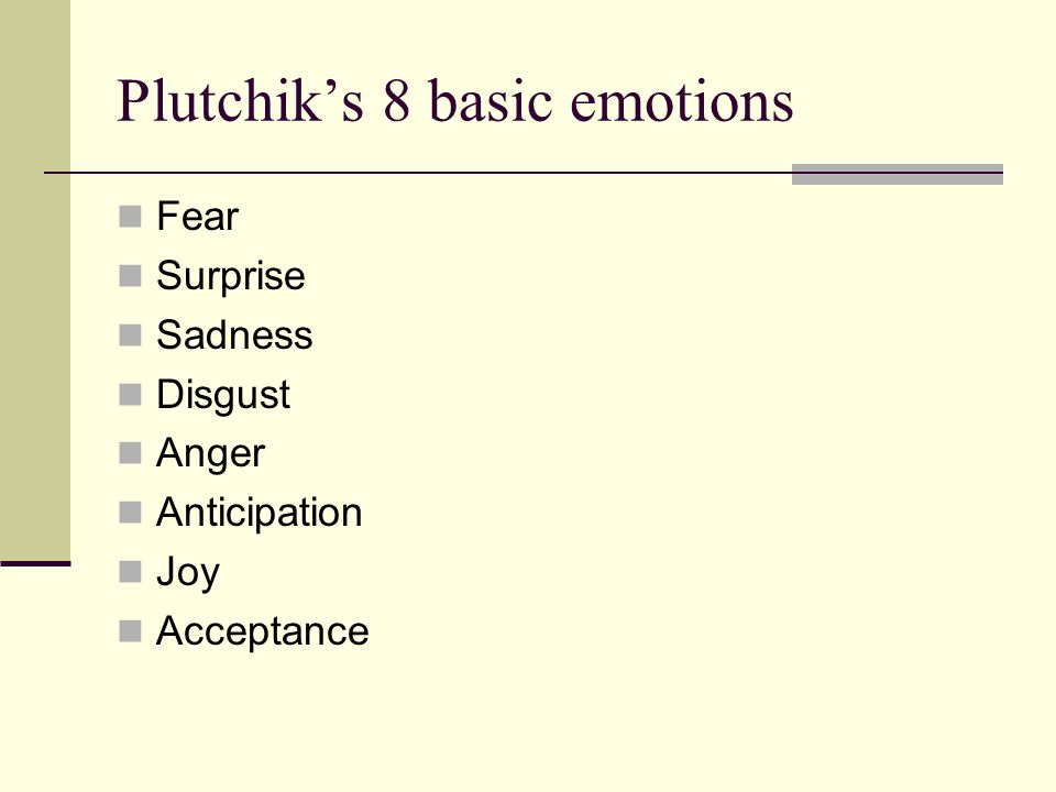 Plutchik's 8 basic emotions