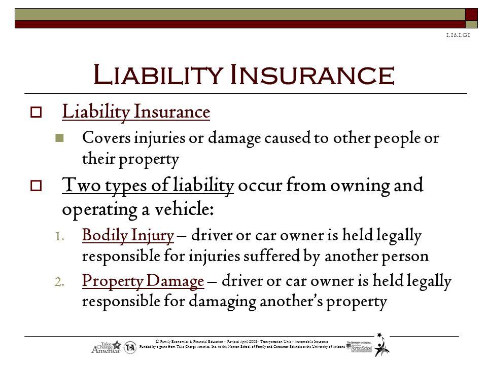 Liability Insurance Liability Insurance