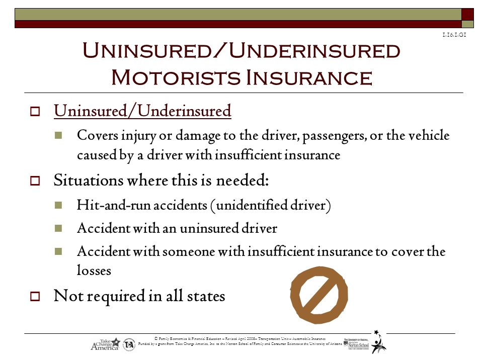 Uninsured/Underinsured Motorists Insurance