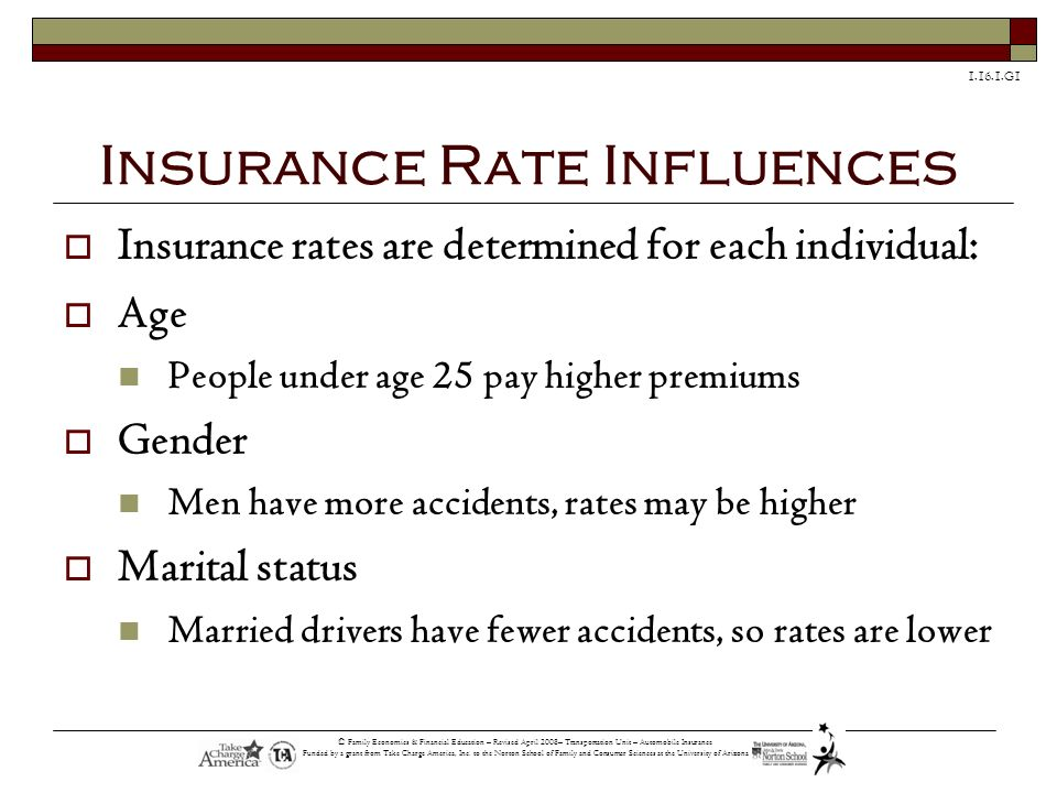 Insurance Rate Influences