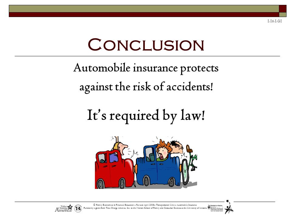 Automobile insurance protects against the risk of accidents!