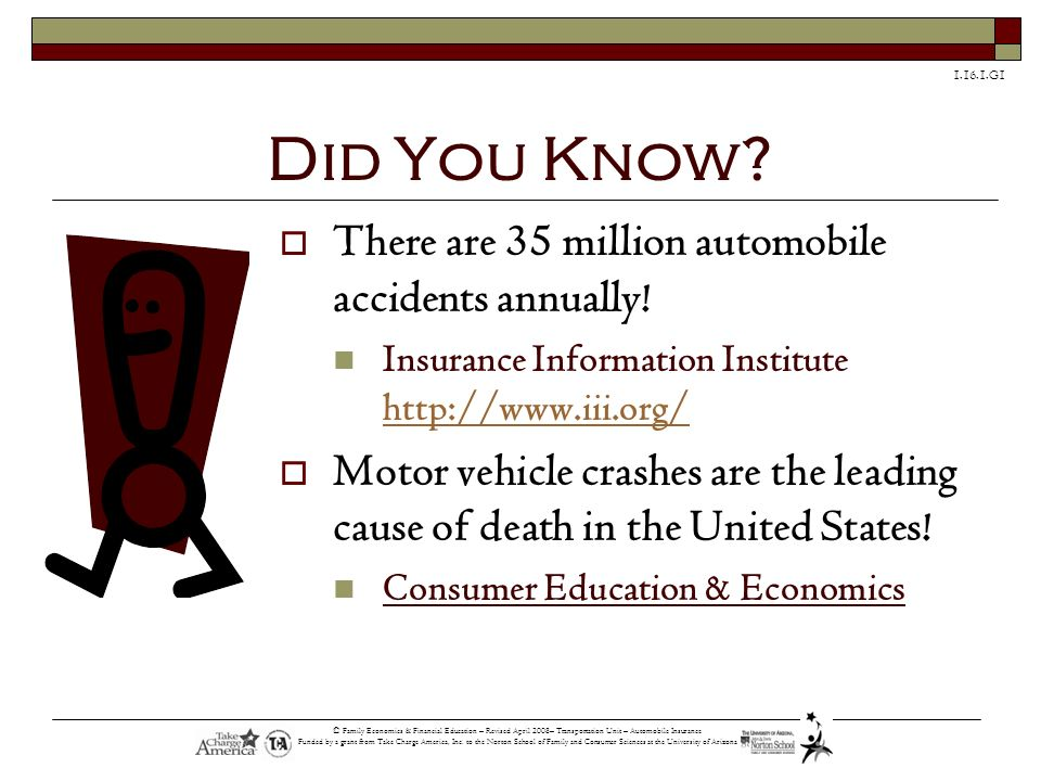 Did You Know There are 35 million automobile accidents annually!