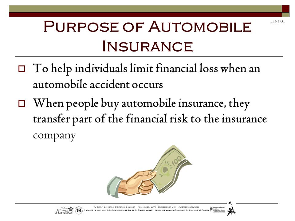 Purpose of Automobile Insurance