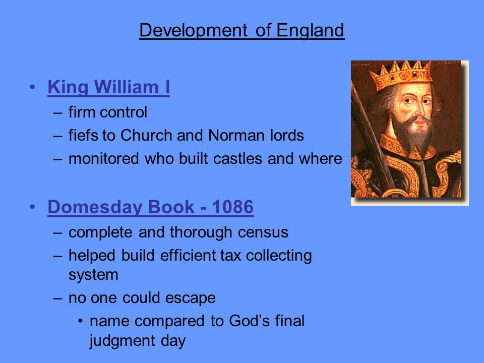 Development of England