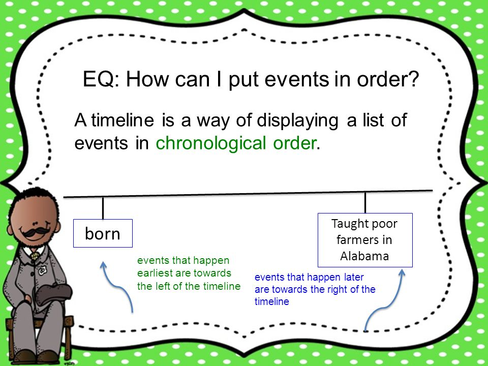 EQ: How can I put events in order
