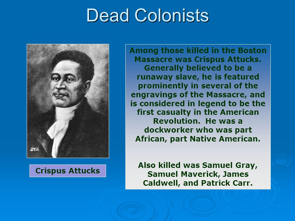 Dead Colonists