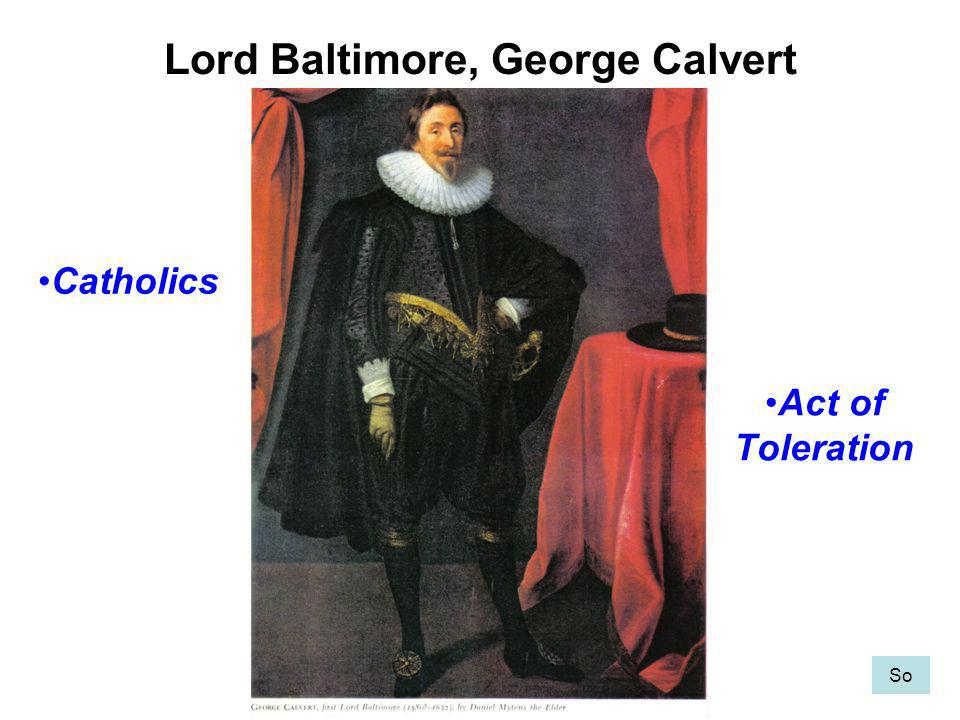 Lord Baltimore, George Calvert