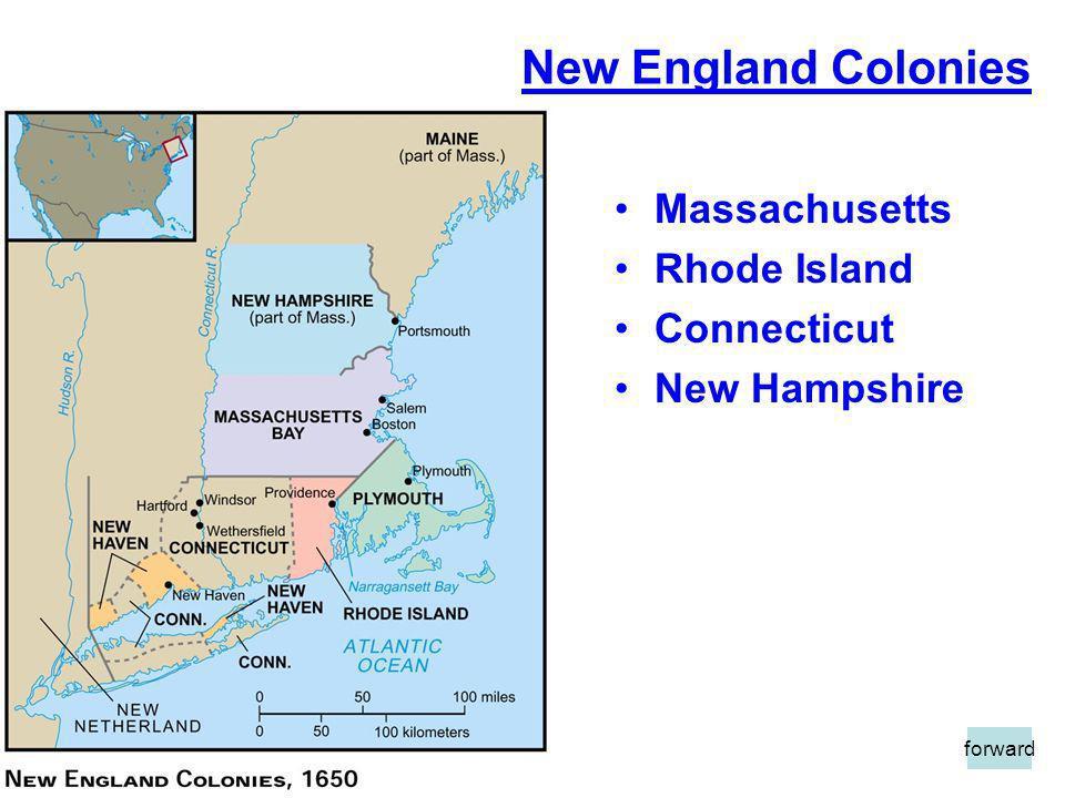 New England Colonies Massachusetts Rhode Island Connecticut