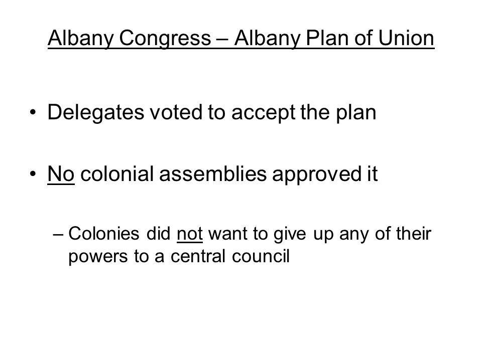 Albany Congress – Albany Plan of Union