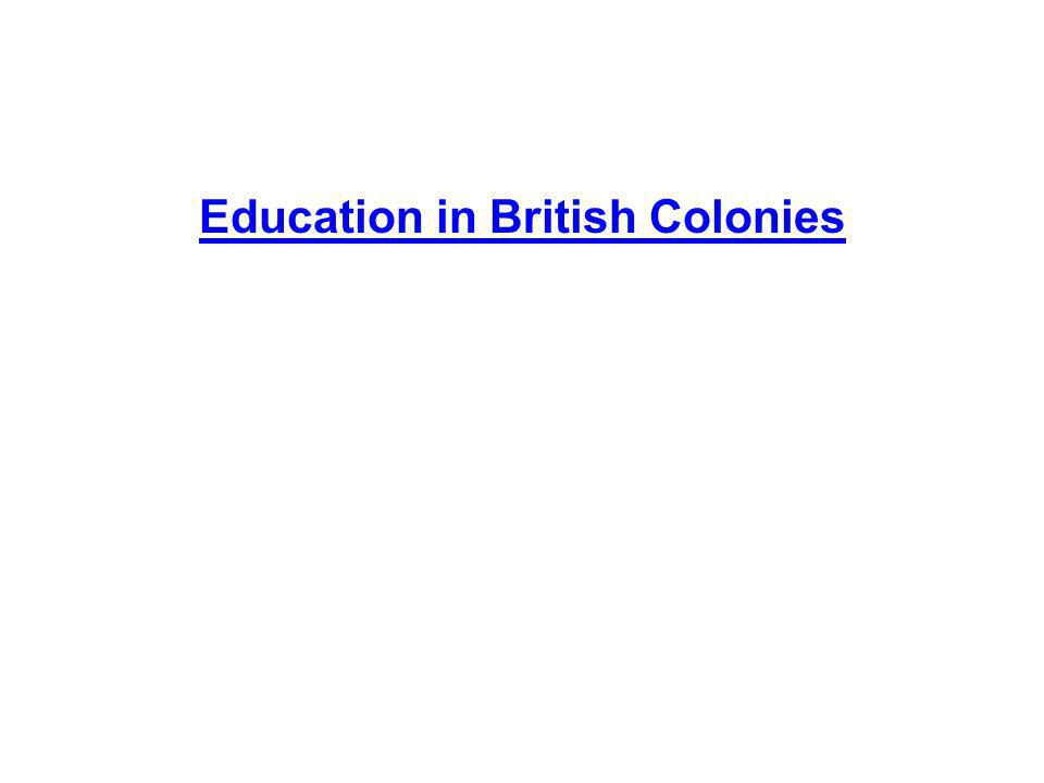 Education in British Colonies
