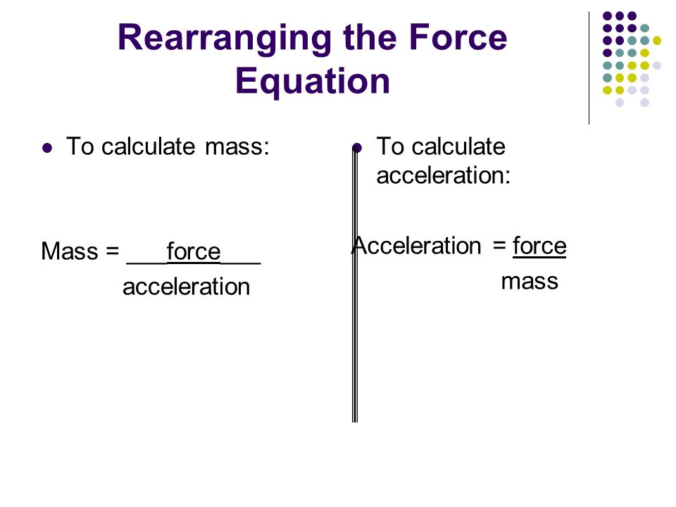 Rearranging the Force Equation