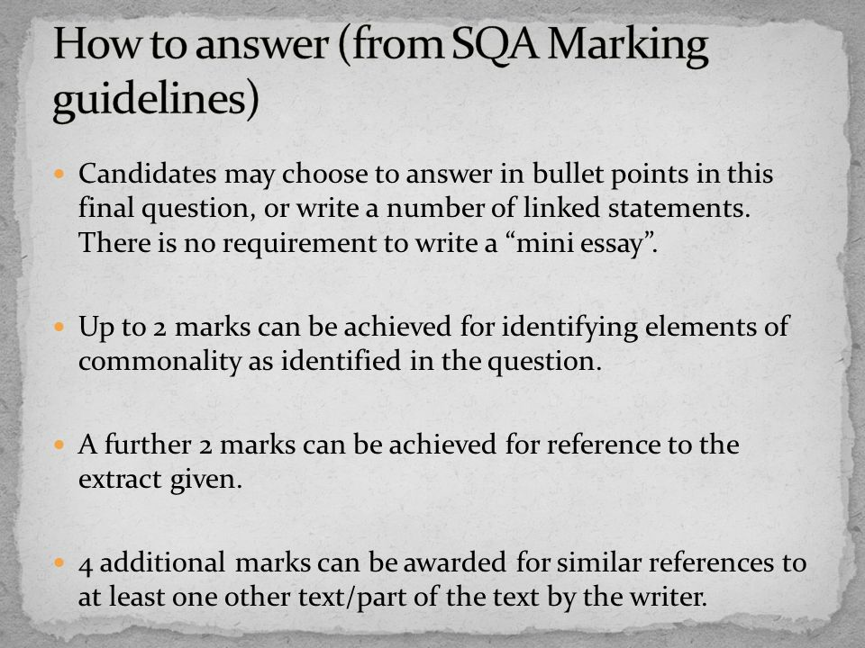 how to answer text that is statement