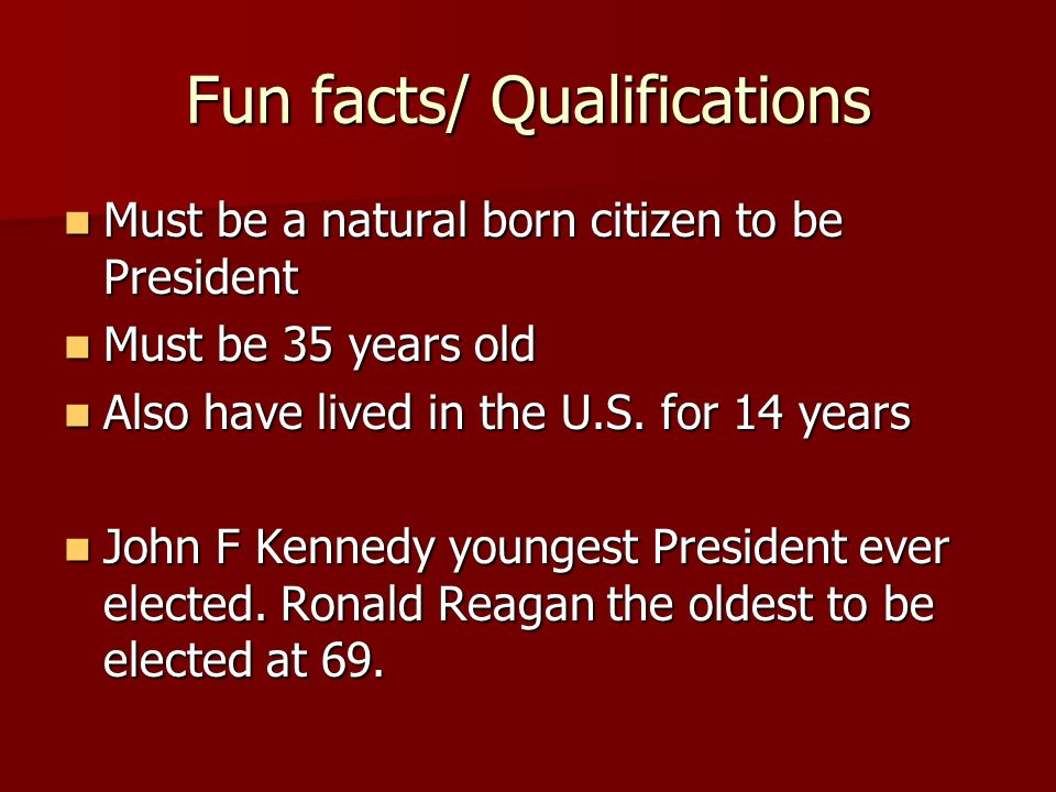 Fun facts/ Qualifications