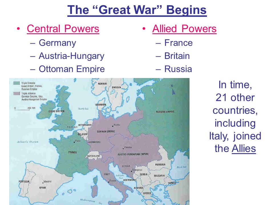In time, 21 other countries, including Italy, joined the Allies