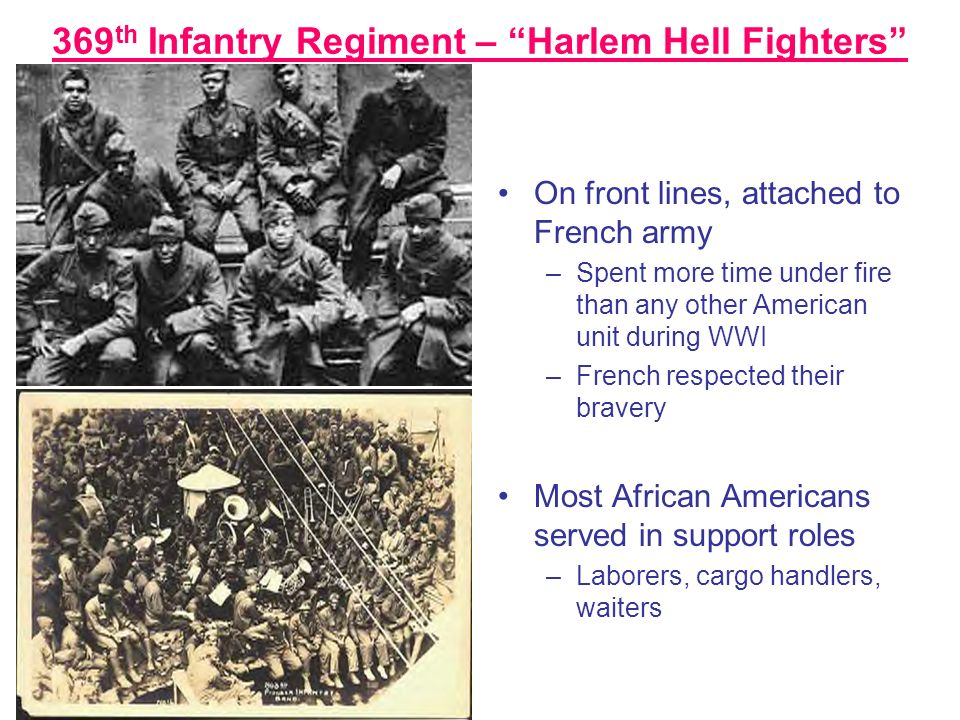 369th Infantry Regiment – Harlem Hell Fighters