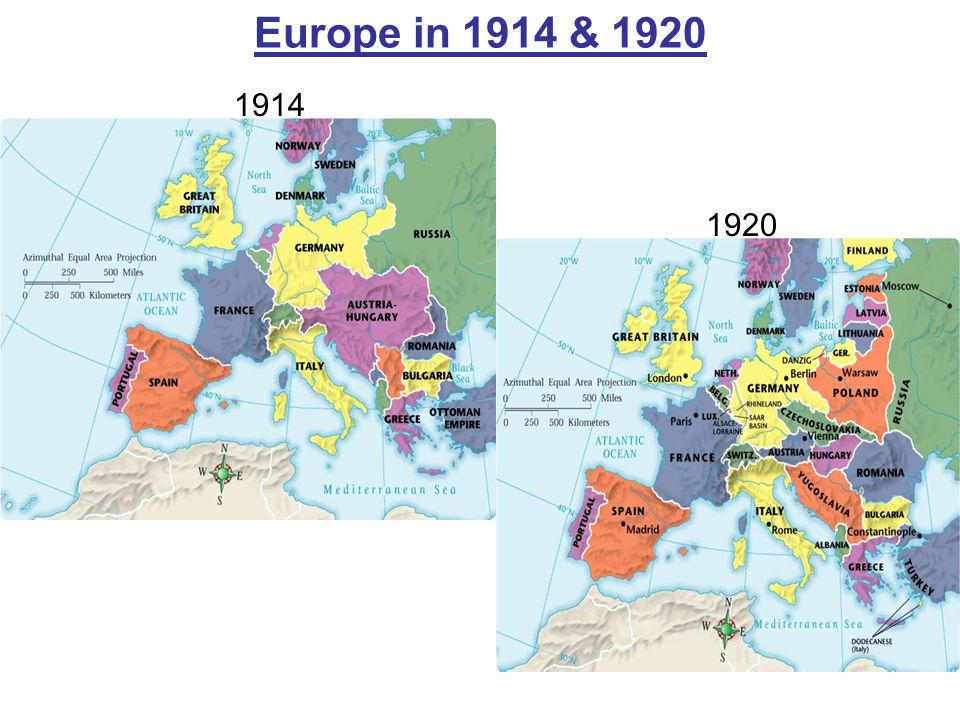 Europe in 1914 & 1920 1914 1920