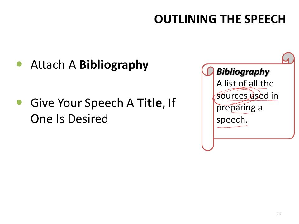 Give Your Speech A Title, If One Is Desired
