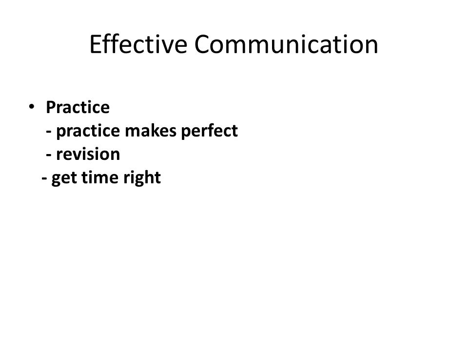 Effective Communication