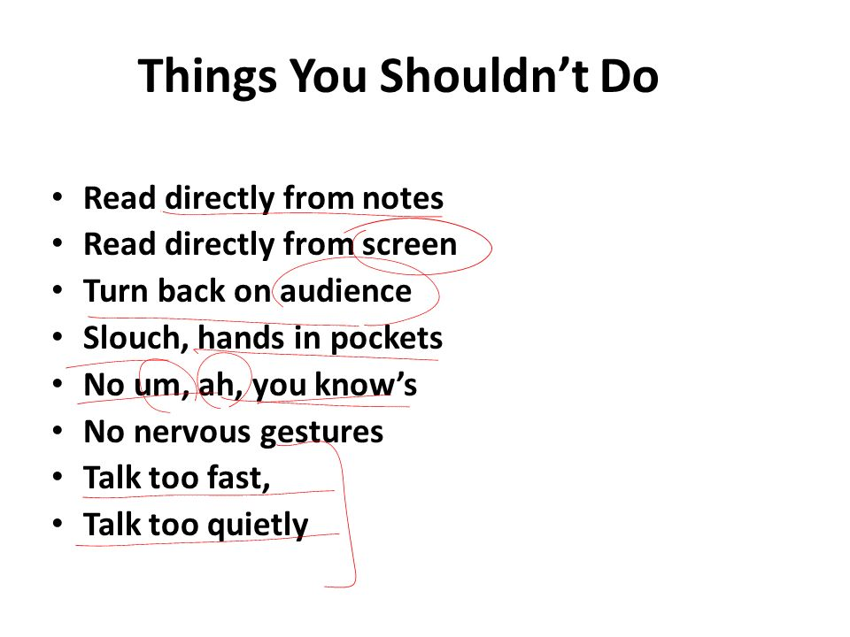 Things You Shouldn't Do
