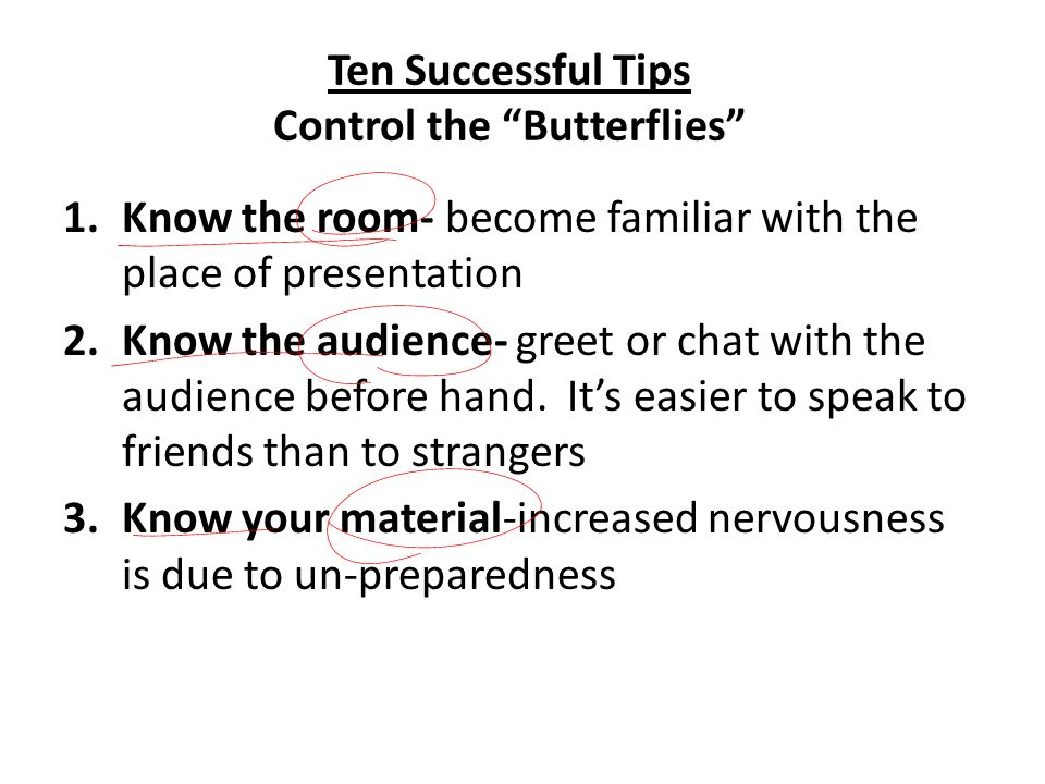 Ten Successful Tips Control the Butterflies
