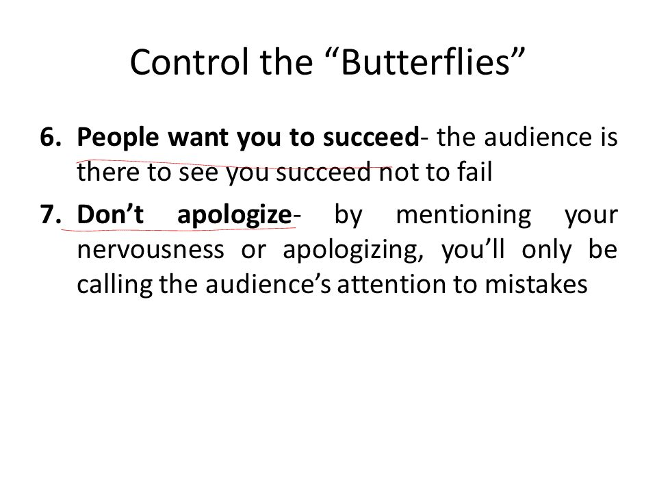 Control the Butterflies