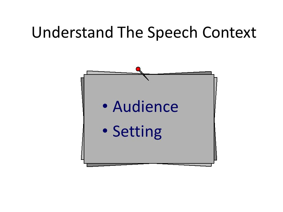 Understand The Speech Context