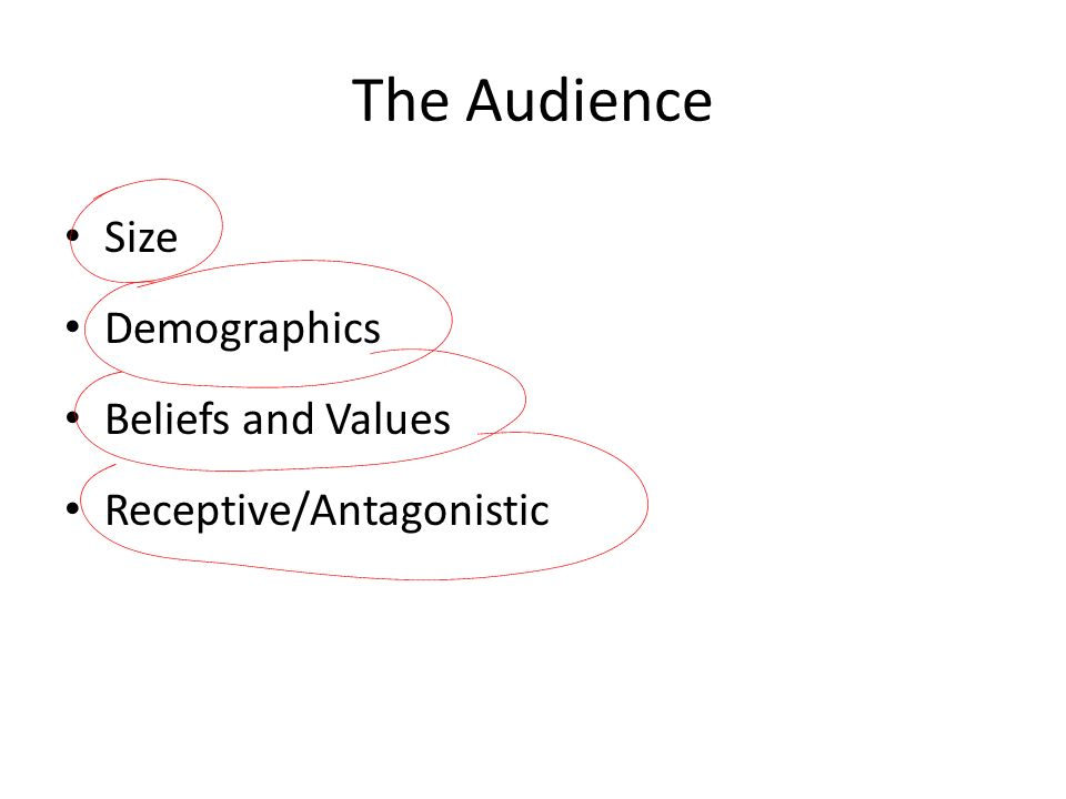 The Audience Size Demographics Beliefs and Values