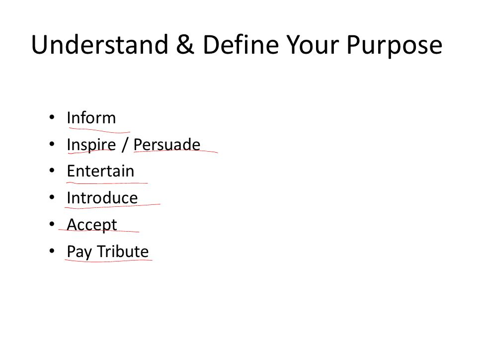 Understand & Define Your Purpose